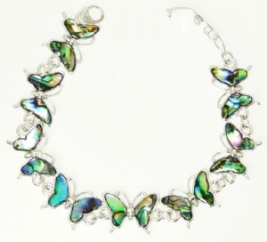 Abalone Paua Shell Butterfly Bracelet Natural A